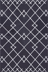 Coyer Geometric Area Rug (5'3'' x 7'10'') in Dark Grey