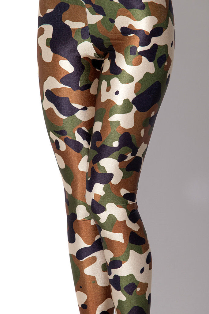 Leggings - Green Camoflauge Leggings - Epic Leggings
