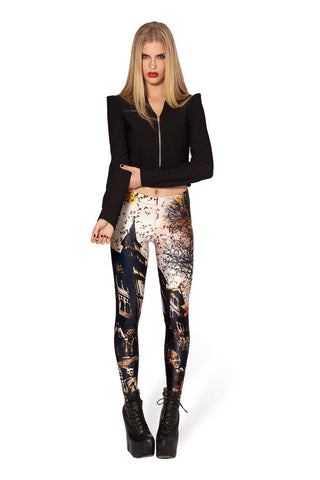 Leggings - Digital Haunted Sexy Leggings - Epic Leggings