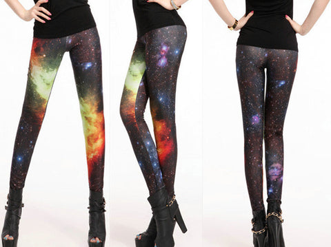 Leggings - Cosmic Galaxy Slinky Leggings - Epic Leggings