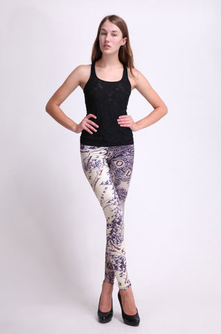 Leggings - Blue Toned Map Leggings - Epic Leggings