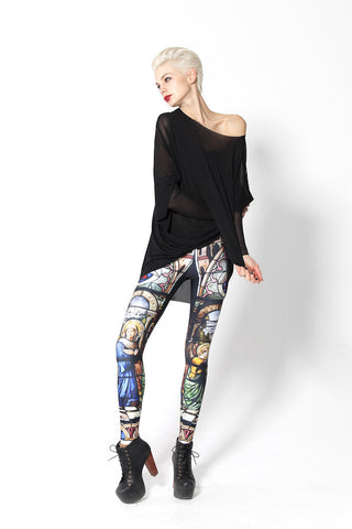 Leggings - Sky And Cathedral Godfather Tight Sexy Leggings - Epic Leggings