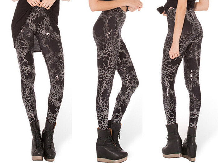 Leggings - Europe And United States Hot Sky And Spider Web Sexy - Epic Leggings