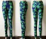 Leggings - Green  Leaves Leggings - Epic Leggings
