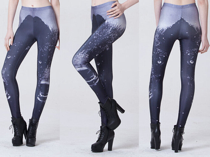 Leggings - Sky Black Bear Leggings Pencil Leggings - Epic Leggings