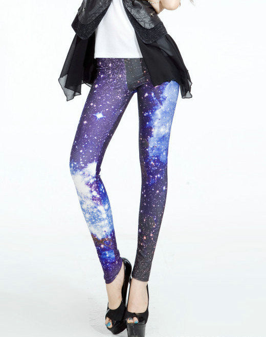 Leggings - Galaxy Blue Sky Sexy Leggings - Epic Leggings