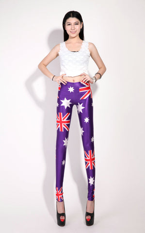 Purple British Flag Leggings