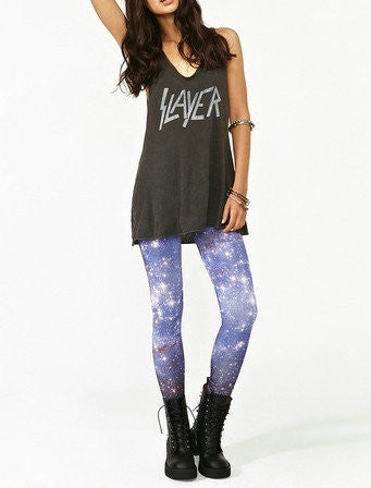 Leggings - Blue Digital Print Galaxy Leggings - Epic Leggings