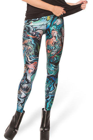Leggings - Dazzling Mix Color Print Pencil Leggings - Epic Leggings