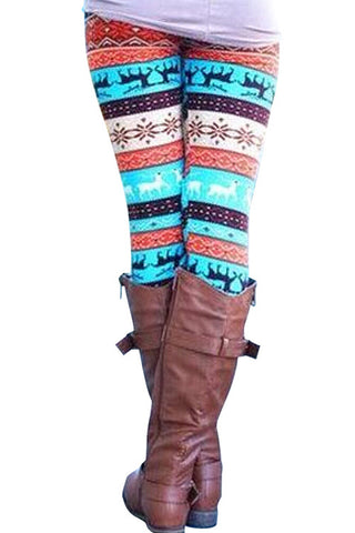 Leggings - Deer Snowflake Holiday Winter Leggings - Epic Leggings
