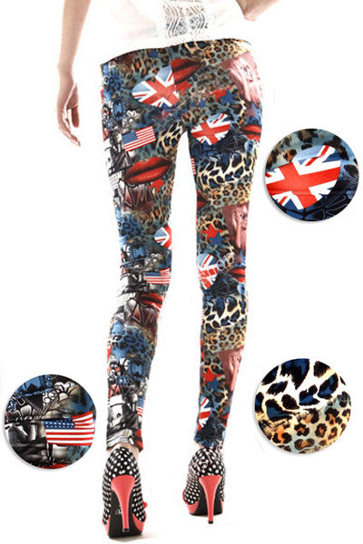 Leggings - Flag Collage Leggings - Epic Leggings