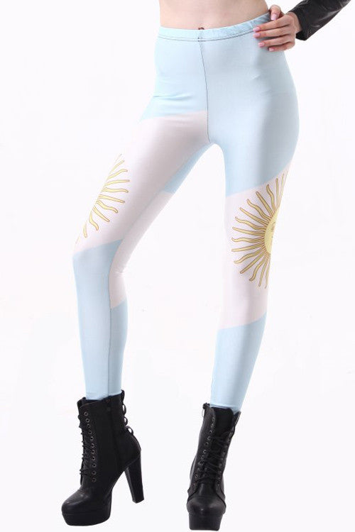 Leggings - Fashion Argentina Flag Leggings - Epic Leggings