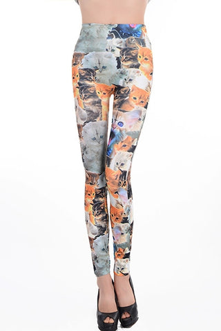 Leggings - Cat Print Leggings - Epic Leggings