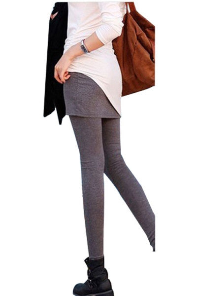 Leggings - Gray Tight Skirt Leggings - Epic Leggings