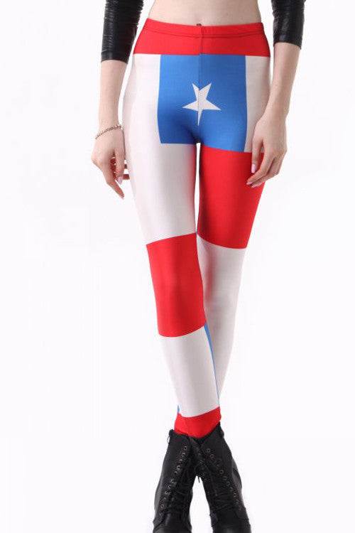 Leggings - Chile Flag Leggings - Epic Leggings
