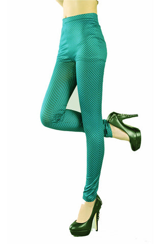 Leggings - Green High Waist Woman Tight Leggings - Epic Leggings