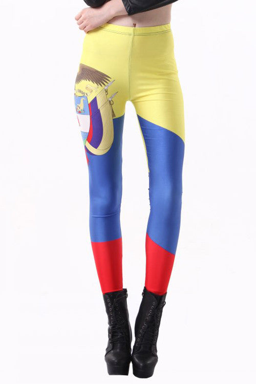 Leggings - Colombia Flag Leggings - Epic Leggings