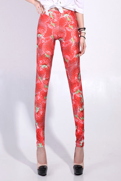 Leggings - Strawberry Galaxy Leggings - Epic Leggings