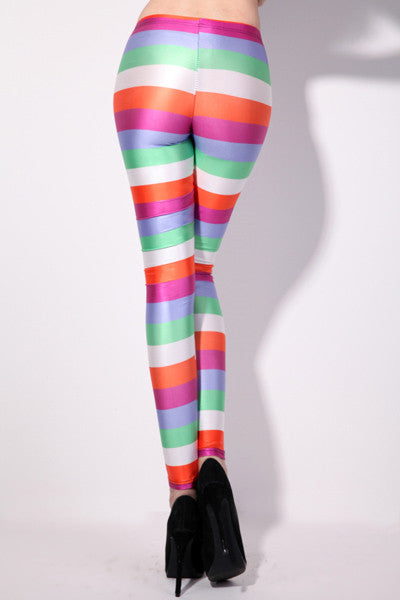 Leggings - Colorful Fashionable Stripes Leggings - Epic Leggings