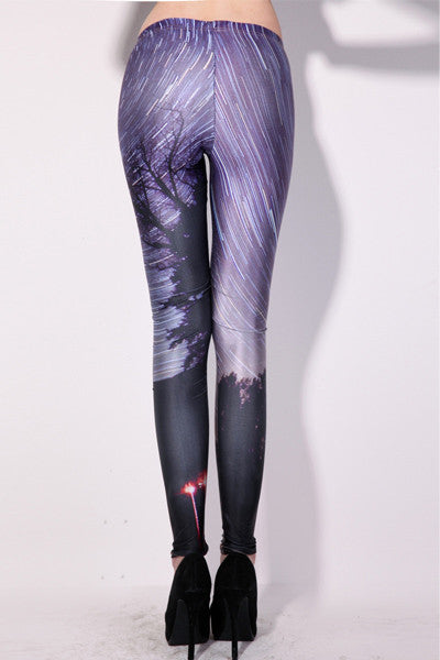 Leggings - Quiet Night Heavy Rains Pattern Leggings - Epic Leggings
