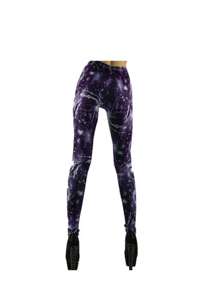 Purple Outer Space Leggings