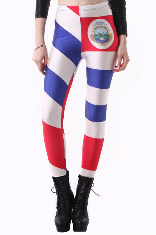 Leggings - Costa Rica Flag Leggings - Epic Leggings