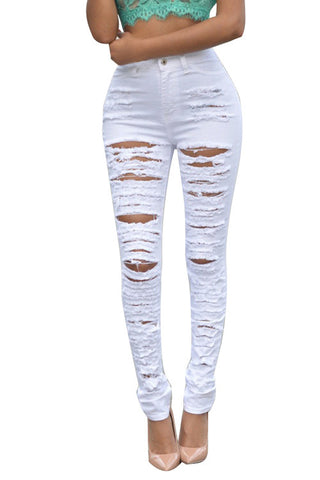 Leggings - Casual White Jeans - Epic Leggings