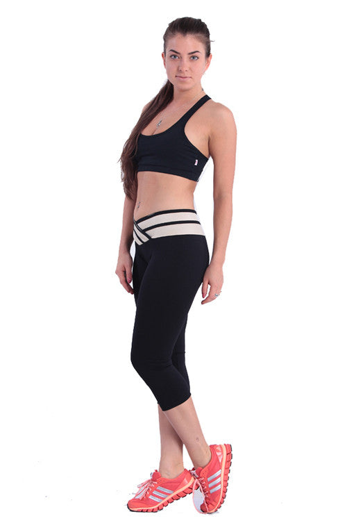 Leggings - Black Mid-calf Sport Pants - Epic Leggings