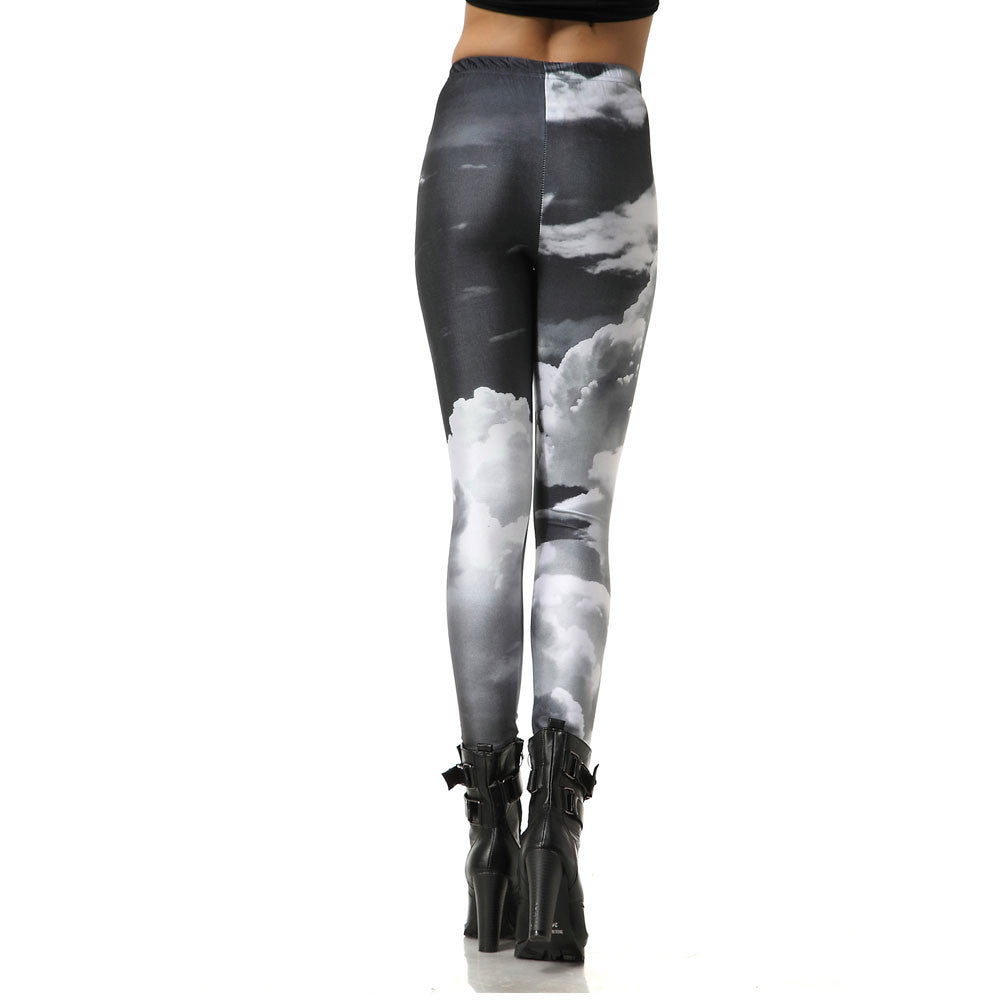 Leggings - Dark Cloud Print Pencil Leggings - Epic Leggings