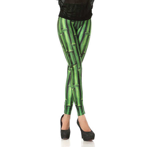 Leggings - Green Bamboo Joint Printed Leggings - Epic Leggings