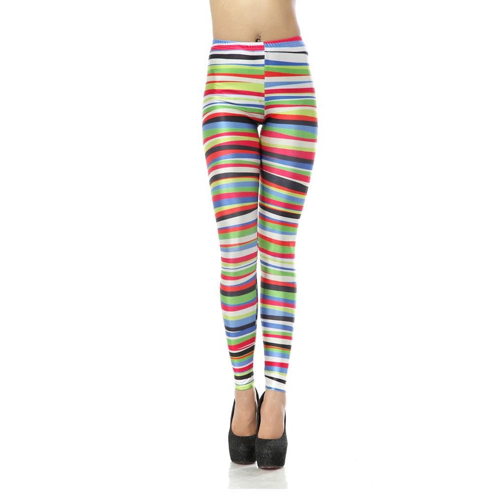 Leggings - Colorful Striped Pencil Leggings - Epic Leggings