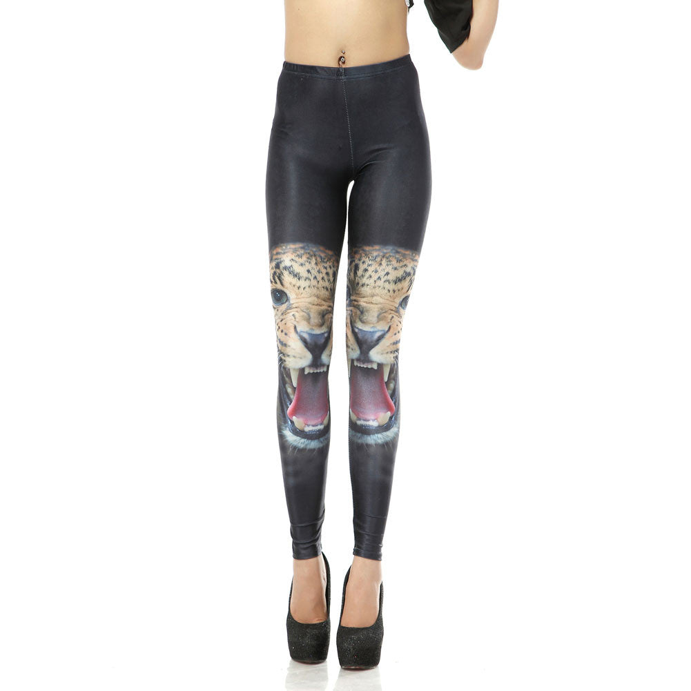 Leggings - Black Tiger Pattern Leggings - Epic Leggings