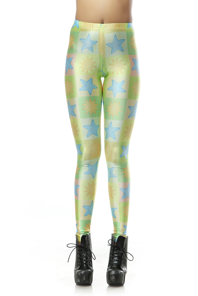 Leggings - Starry Green Leggings - Epic Leggings