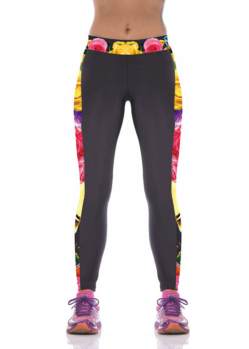 Leggings - Rose Printed Leggings - Epic Leggings
