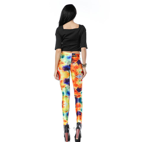 Leggings - Bright Floral Print Leggings - Epic Leggings