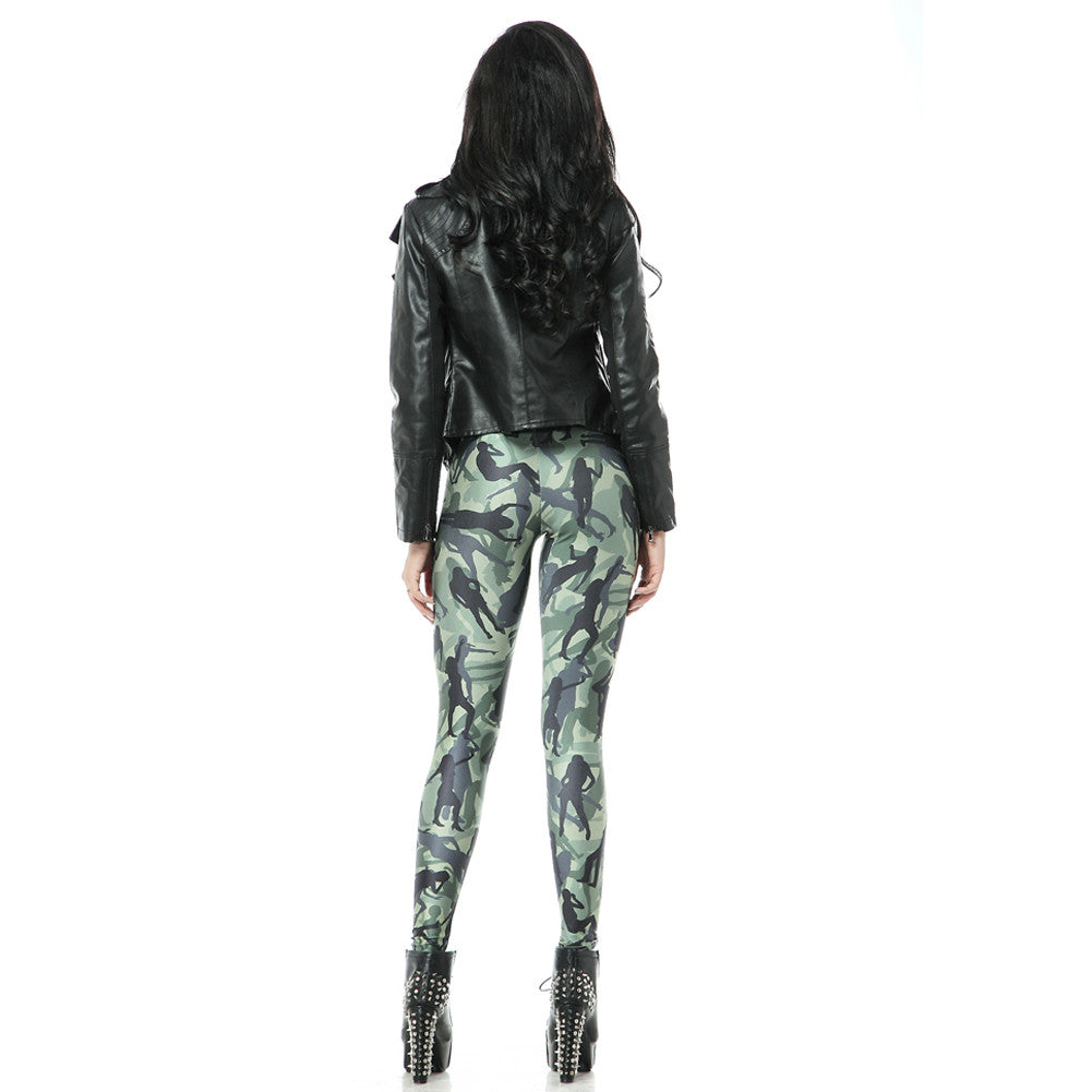 Leggings - Cool Army Green Lady Leggings - Epic Leggings