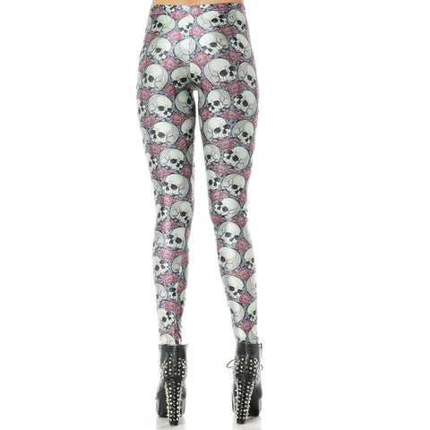 Leggings - High Waist Skull Leggings - Epic Leggings
