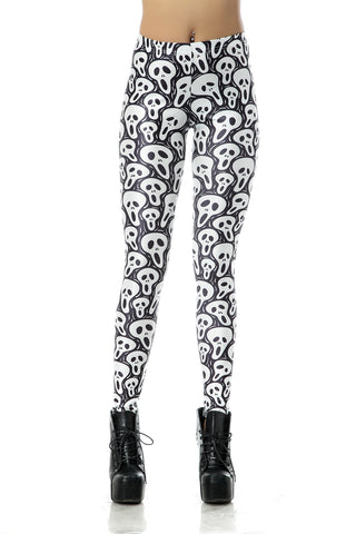 Leggings - Gray Ghost Pattern Leggings - Epic Leggings