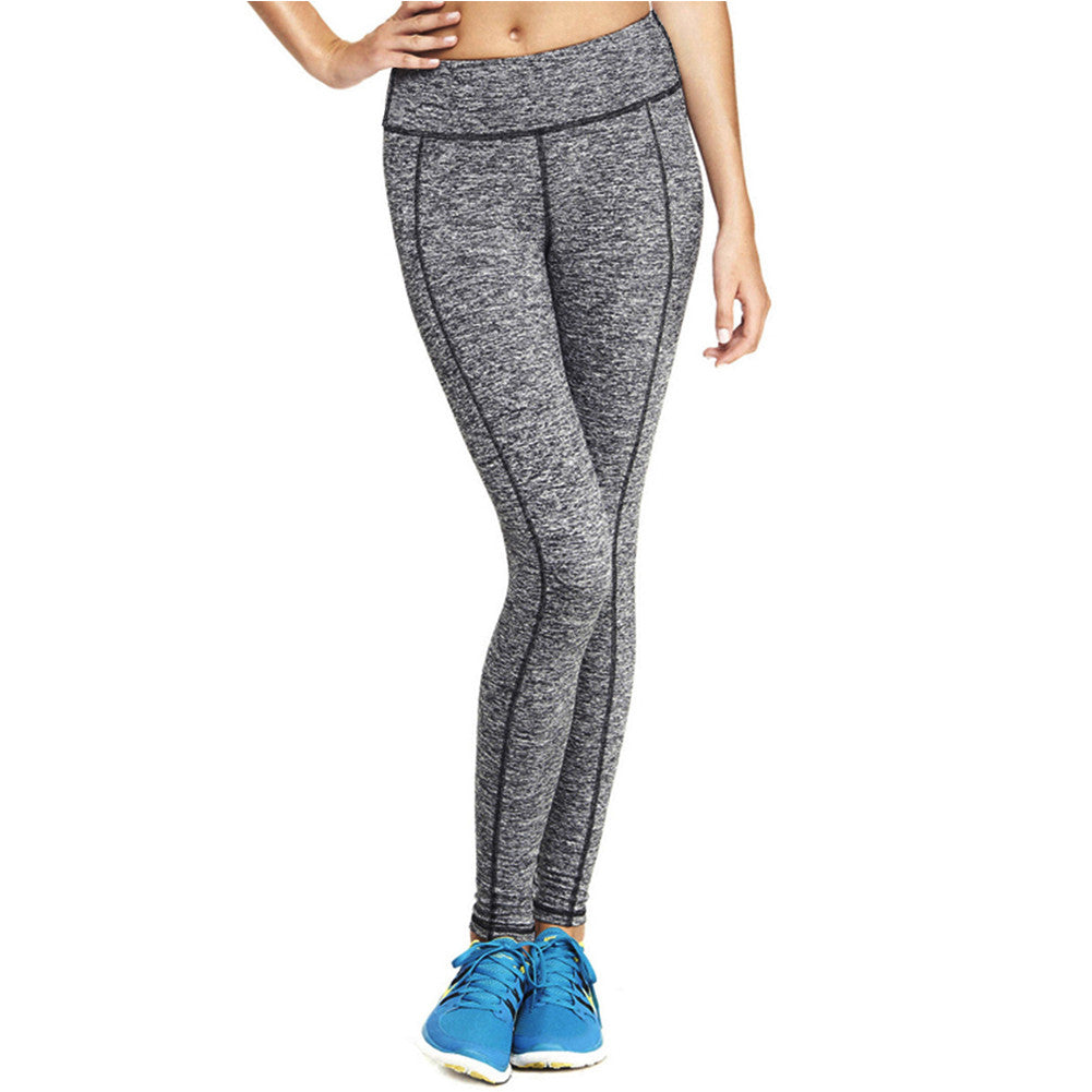 Silver Stretch Grey Lined Sports Leggings