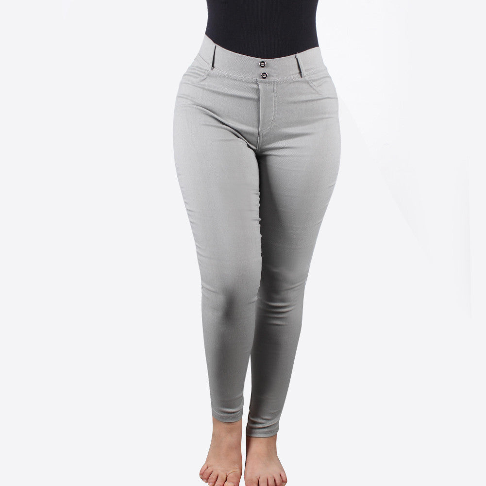 Grey Workout Jeans