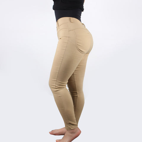 Leggings - Khaki Butt Lift Jeans - Epic Leggings