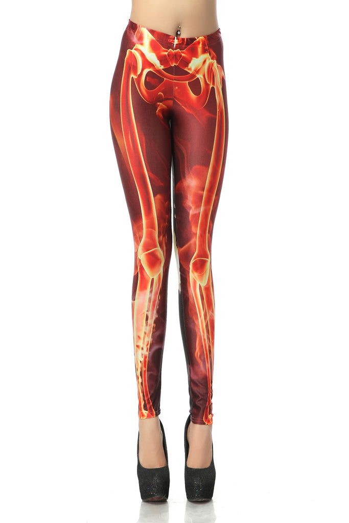 Red Skeleton Leggings