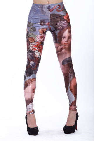 Leggings - Flower and Infant Pattern Leggings - Epic Leggings