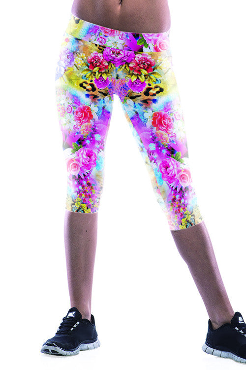 Leggings - Flower Print Leggings - Epic Leggings