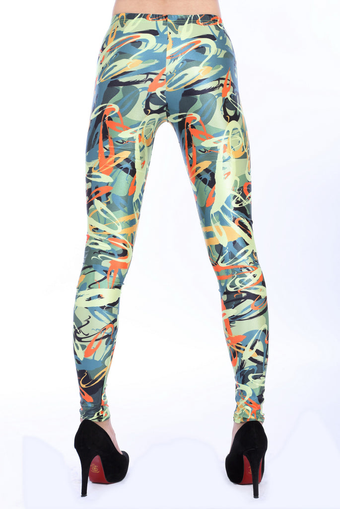Leggings - Funky Graffit Pattern Leggings - Epic Leggings
