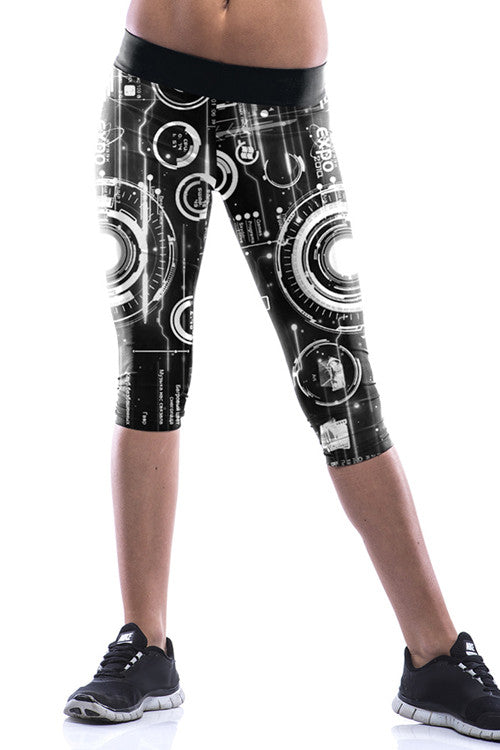 Leggings - Cool Abstract Black Leggings - Epic Leggings