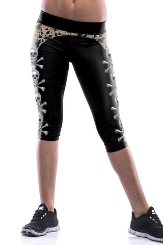 Leggings - Black Skull Leggings - Epic Leggings