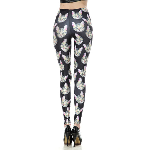 Leggings - Cat with Pink Ear Leggings - Epic Leggings