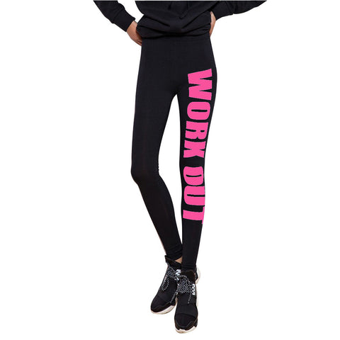 Leggings - Black Fitness Workout Red Printed Leggings - Epic Leggings