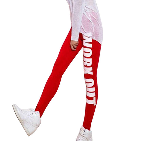 Leggings - Fitness Red Workout Printed Leggings - Epic Leggings